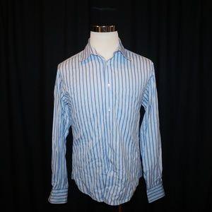 Bugatchi Uomo Button Front Shirt Mens Medium